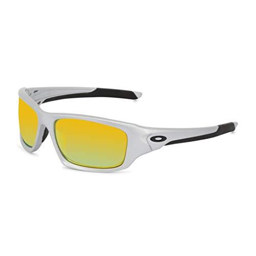 Oakley Für Mann Oo9236 Valve Silver / Fire Iridium Polarized Kunststoffgestell Sonnenbrillen
