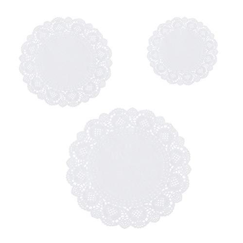 unde Deckchen Papierdeckchen Tischsets für Kuchen Desserts gebacken Treat Display 5,5 Zoll ()