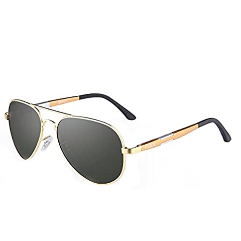 FEIDU High Quality Pilot Alloy Polarized Aviator Sunglasses Men Classic Sun Glasses Driving Sport (C4)