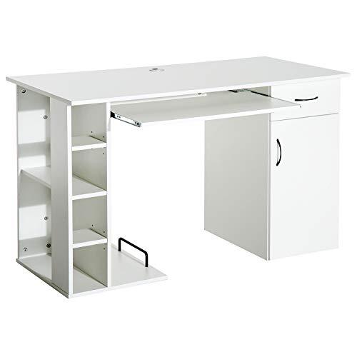 Mesa Ordenador Tipo Escritorio PC - Color Blanco -Madera