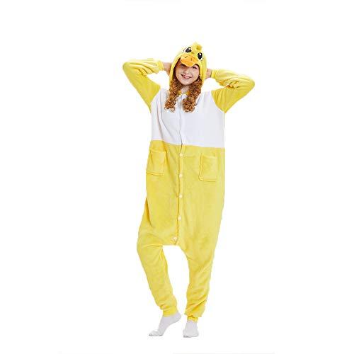 (NN IKEA Schlafanzug Tierkostüme Pyjamas Cartoon Cosplay Weihnachten Karneval,Yellow,XL)