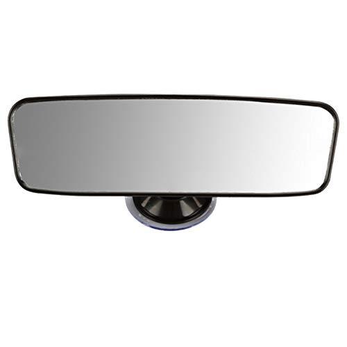 Espejo retrovisor, Universal Coche camión Espejo Retrovisor Interior Ventosa Gran Campo de Visión Gran Angular Espejo Plano Espejo Auxiliar de Marcha Atrás