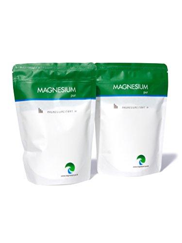 Magnesium Pur - Pulver 2 x 500g Beutel -