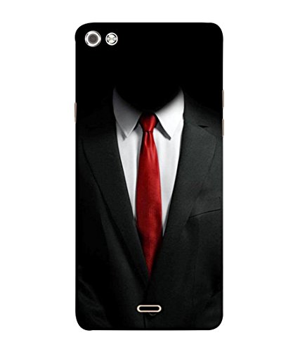 PrintVisa Designer Back Case Cover for Micromax Canvas Sliver 5 Q450 :: Silver Q450 (Suit shirt tie formal decent)  available at amazon for Rs.385