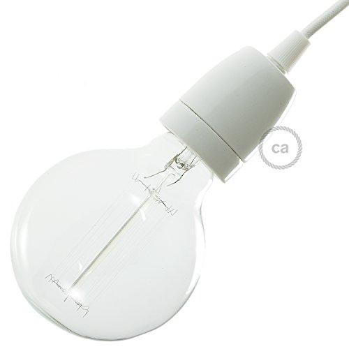 creative cables E27-Lampenfassungs-Kit aus Porzellan - Weiß
