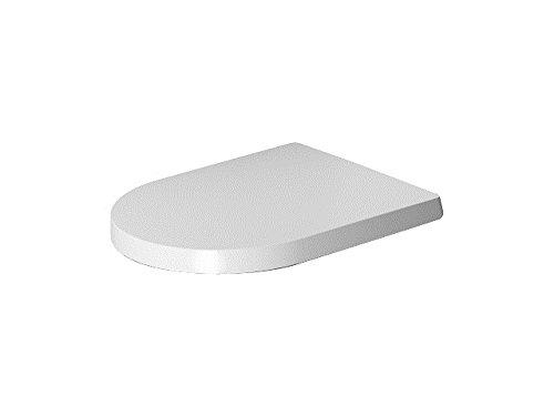 Duravit 0020190000 WC-Sitz ME by Starck Compact mit Absenkautomat, Scharniere, Edelstahl/weiß
