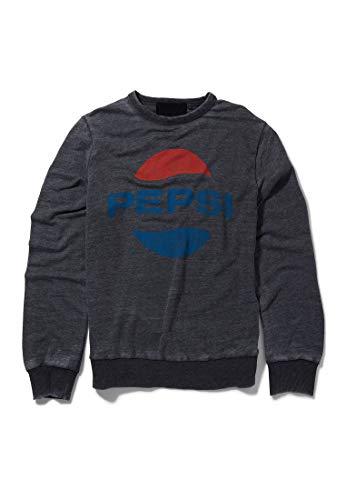Recovered - Sweatshirt mit klassischem Pepsi-Logo - oval - Dunkelgrau - S Oval Logo Sweatshirt