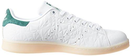 adidas Stan Smith, Scarpe da Ginnastica Donna Bianco (Wht/Ftwwht/Cgreen)