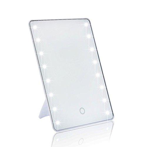 Fypo Espejo de Maquillaje con luz LED (LED Espejo de Mesa)