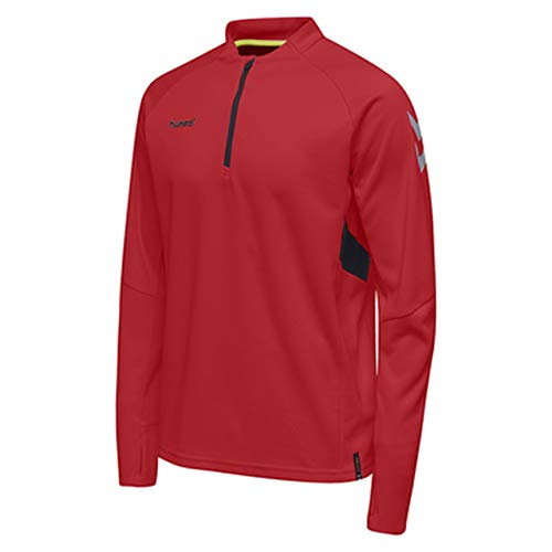 hummel Herren Tech Move Half Zip Sweatshirt, True Red, M Half Zip Sweatshirt