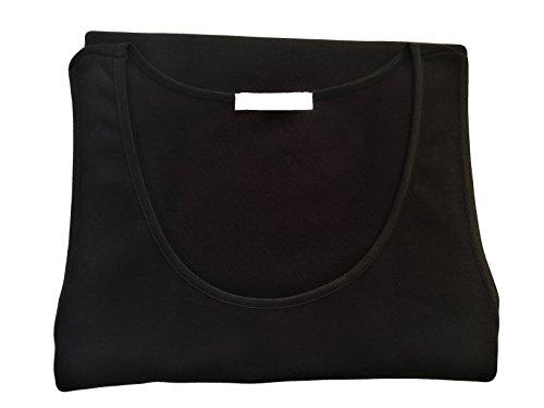 Nottingham confezione 2 pezzi canottiera spalla larga donna caldo cotone interlock - colori bianco e nero