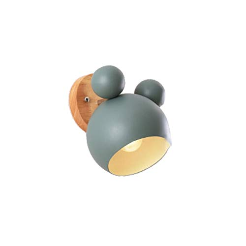 Chenjinxiang Wandleuchte, kreative Kinderwandleuchte, Mickey Design (optional in vier Farben) Stilvoll und raffiniert (Color : Green)