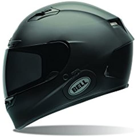 Bell Power Sports Qualifier DLX Moto Casco, color Negro Solido Mate, talla XXL