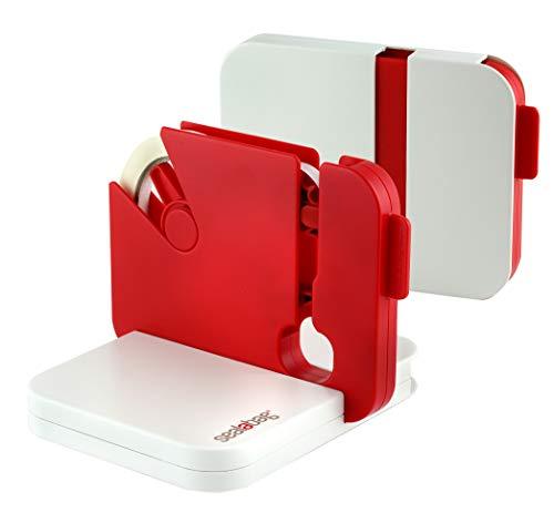 Sigillatrice nastro per sacchi si appiattisce dopo luso fornita con 5 rotoli di nastro compatibile con nastro da 9 e 12 rosso