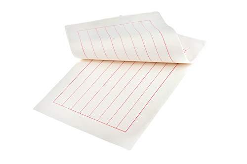 Quantum Abacus Hochwertiges Anhui Xuan Papier, für chinesische und japanische Kalligraphie, 19cm x 29cm, 8 Spalten, 40 Blatt, Mod. AHP-01 -