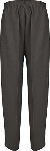 Donna Elasticizzato Pantaloni Con Tasca Pantaloni Da Donna Formati 12 - 24 Grigio scuro