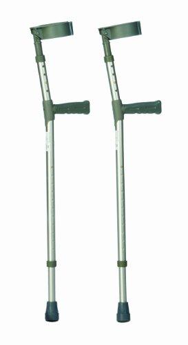 Drive Medical 10450-1 - Muletas de codo (ajuste en brazo y pierna, aluminio), Small