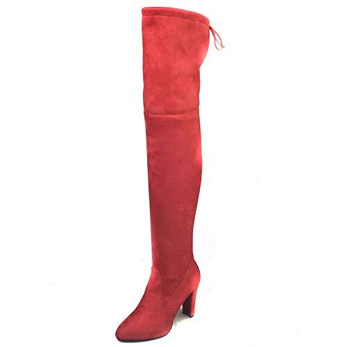 Heat-Tracing - Stivali da Donna sopra Il Ginocchio, Sexy, da Donna, Autunno e Inverno, Colore: Nero, Rosso (Sandali Adventure Seeker, Punta Chiusa - T - Bambini), 41 EU