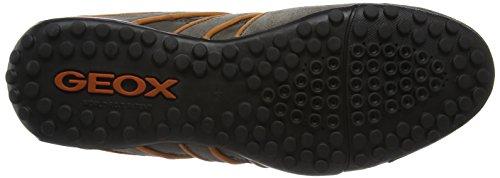 Geox UOMO SNAKE J Herren Sneakers Braun (Taupe/orangec6048)