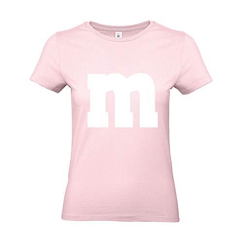 Shirt-Panda Damen T-Shirt M&M Gruppen Kostüm Karneval Fasching Verkleidung Party JGA Frauen Rosa S (Rosa Regenschirm Kostüm)