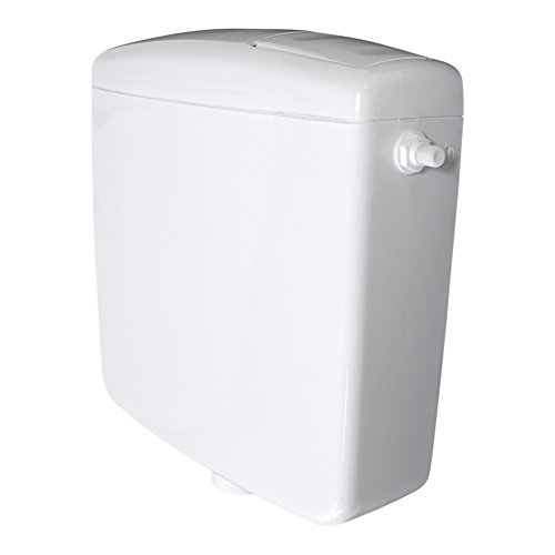 Spülkasten für WC Toiletten Weiß 6 - 9 Liter Spartaste Aufputz Aufputzspülkasten Spül Start Stop Funktion