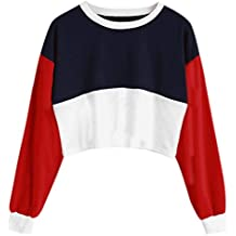 Lonshell De Las Mujeres Cuello Redondo Manga Larga Cortar Coser Pullover Stripe con Capucha Camisa Impresión