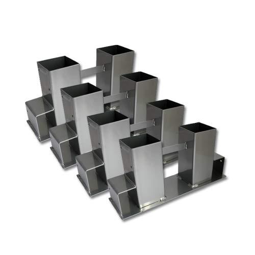 *Grafner® 4er Set Holzstapelhilfe für Brennholz | pulverbeschichteter Stahl | variabel anwendbar | massiv | hochwetig | Kaminholz Stapel Halter*