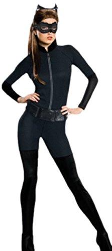 fregendes Catwoman-Kostüm, Karneval, Fasching, 38, Schwarz (Einfache Catwoman Kostüm)