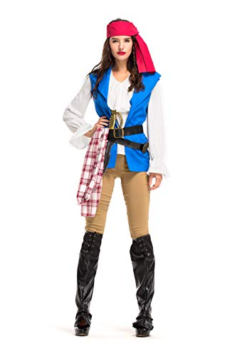VENIMASEE Women's Chronicle of Pirate Costume Halloween Cosplay Fancy Dress Costume