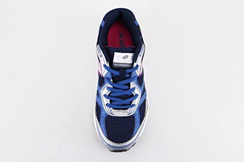 LOTTO sneakers donna tessuto pelle Blu