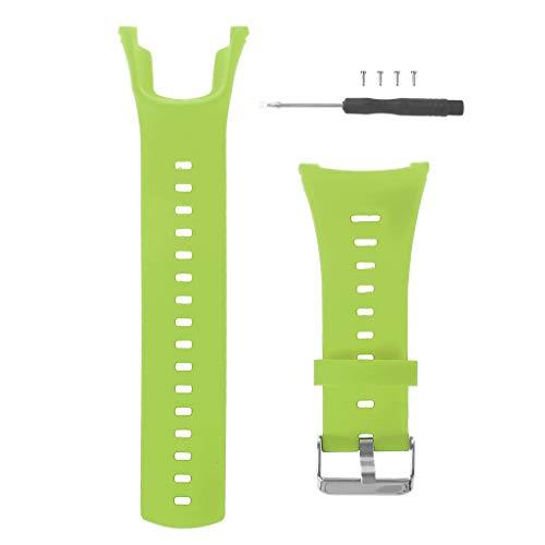 huiouer Ersatz-Armband aus Silikon für Suunto Ambit Serie 1/2/3 grün