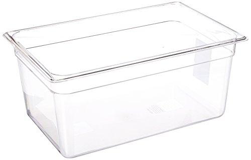 LIPAVI C15 Sous-Vide Behälter - 18 Liter, 44,8 x 29,1 x H:20,3 cm. Starkes, durchsichtiges Polycarbonat. Passende Deckel für Anova, Wancle und weitere Marken Wird separat verkauft. Passt zu LIPAVI Sous-Vide-Gestell L15