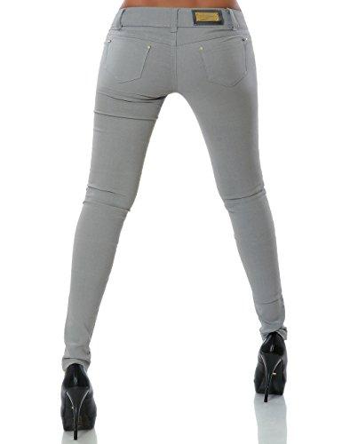 Damen Hose Treggings Skinny Röhre (weitere Farben) No 14205 Grau