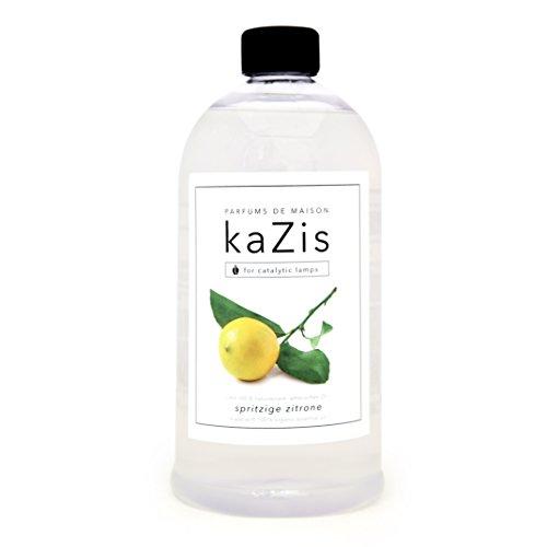 KAZIS I ZITRONE DUFT I Lampe Berger Raum-Duft Alternative I Parfums de Maison I Nachfüll-Öl (Refill) I 1000 ml I 1 Liter I katalytische Lampe (Refill Duft Wäsche)