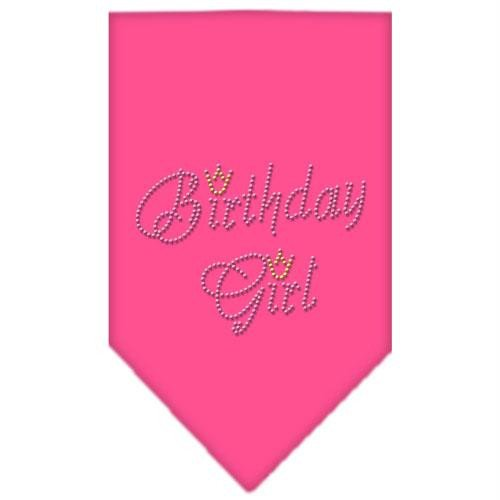 Mirage Pet Products 67-12 SMBPK Birthday Girl Strass Bandana Bright Pink Kleine -