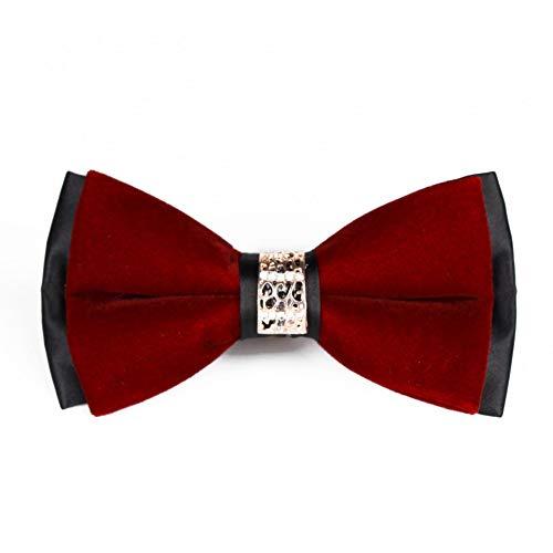 LLTYTE Krawatte Bowtie Double Velour Bright Diamond Krawatte Host Emcee Anzug Fliege Bräutigam Hochzeit Mens Ties Formal Dress Mens Geschenke Diamond Mens Tie