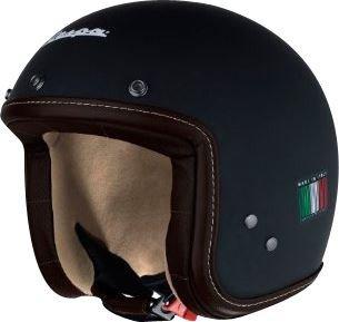 Vespa - Casco P-Xential, colore: Nero opaco