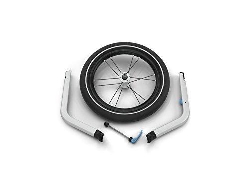 Thule 0872299043002 Chariot Jogging Kit 1 für 1-sitzige Kinderanhänger, Silber -