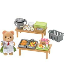 Sylvanian Families School Lunch Set.
