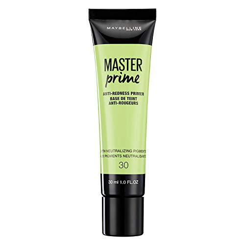 Maybelline Master Prime Nr. 30 Anti-Redness, Make-up-Primer, kaschiert Rötungen, bereitet die Haut optimal auf das Make-up vor, 30 ml