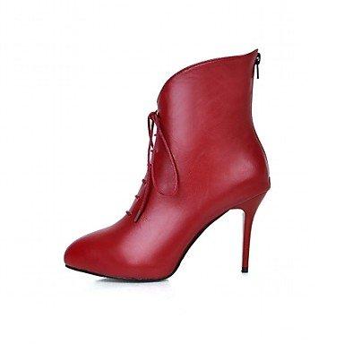Wsx & Plm Femmes-talons-mariage Bureau Et Travail Formel Occasion Soirée-bottes De Cow-boy Bottes D'équitation-a Stiletto-rouge