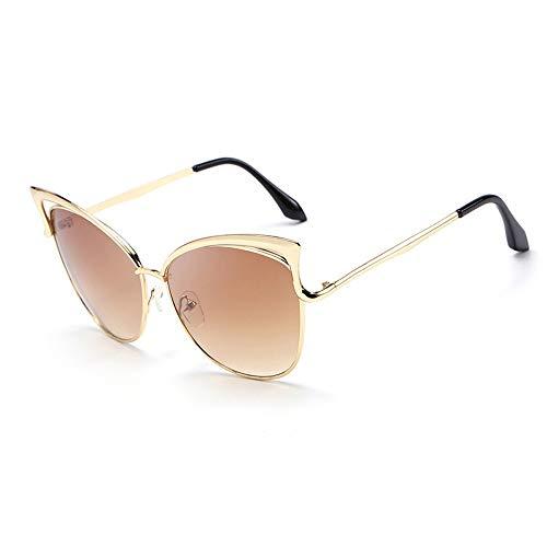 Preisvergleich Produktbild JFY-SUNGLASSES-0816 Sonnenbrillen Lässige Brille Damen Sonnenbrille Persönlichkeit Katzenaugen Sonnenbrille JFYCUICAN (Color : Tea,  Size : Kostenlos)