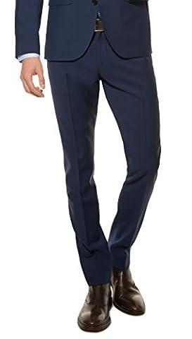 Herren Slim Fit Baukasten Anzughose aus reiner Schurwolle, Marke: Lanificio Tessile d'Oro, Lux (CMP-9999-6730), Größe:24;Farbe:Royal