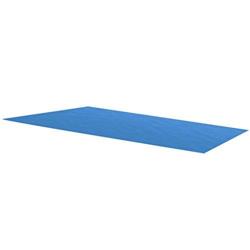 Tidyard Solarpoolabdeckung Rechteckige Poolabdeckung PE-Folie mit Luftkammern Pool-Solarfolie Schwimmbeckenabdeckung Blau Größenauswahl