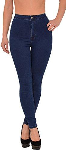 by-tex Damen High Waist Jeans Hose Damen Jeanshose Skinny Hochbund Hose in vielen aktuellen Farben Z92