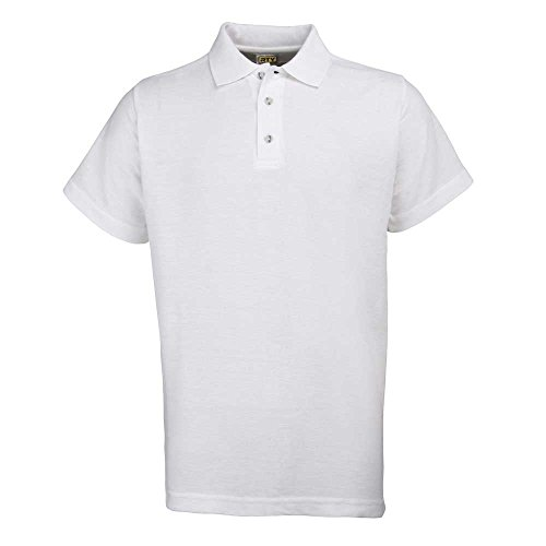 Rty Mens Workwear Casual Heavyweight Polo Shirts White