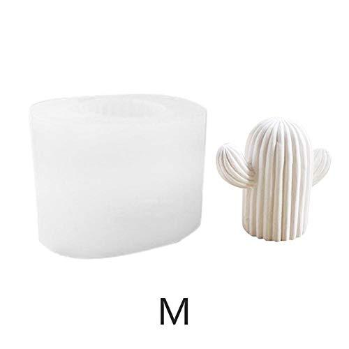 Lembeauty 3D a Forma di Cactus DIY Stampo in Silicone Animal aromaterapia Set intonaco Gesso Auto Display Candela Gesso Stampo per Realizzare Candele, Sapone e la Cottura (Colore Casuale), Medium