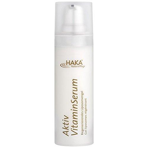 HAKA Aktiv Vitamin-Serum I 30 ml Spender I Anti Falten Gesichts Serum mit Vitamin A, E und C I Feuchtigkeitscreme für reife Haut I Anti...