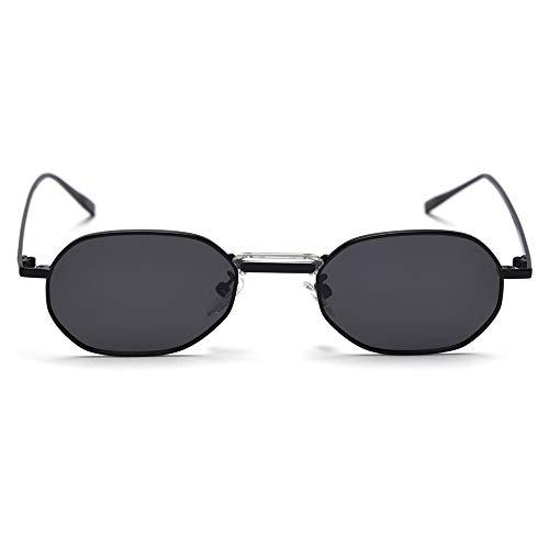 GAOHAITAO Mann polarisierte Sonnenbrille Rechteck Rahmen Metall Designer Frauen Sonnenbrille kleine Uv400 Sommer Zubehör,A1
