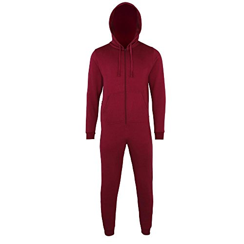 Comfy Co - Jumpsuit 'All-in-One' Burgundy